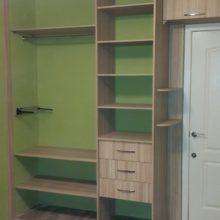 Встроенный шкаф-купе внутреннее расположение полок