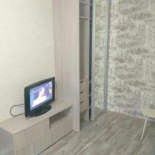 Шкаф-купе встраиваемый в гостиную комнату с зеркалом 2-х дверный