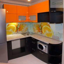 угловая кухня 9 кв м 1 с фотопечатью