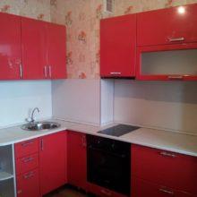 угловая кухня для маленькой кухни фото 1