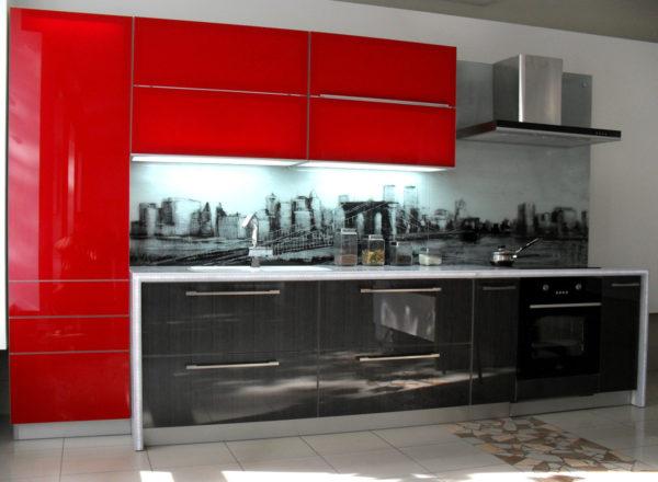 Кухня акриловое стекло с фотопечатью — Вариант № 2