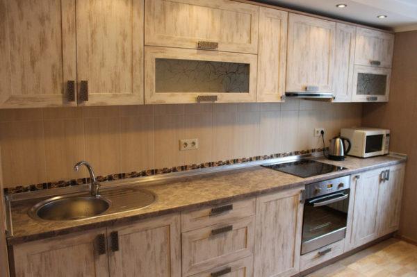 Кухня Egger в деревянной рамке - Вариант № 18