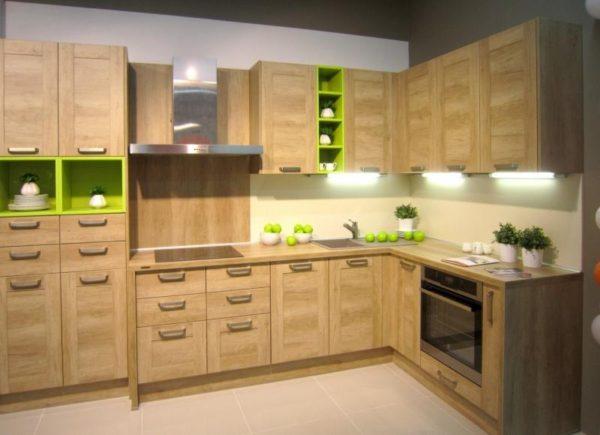 Кухня Egger в деревянной рамке - Вариант № 19