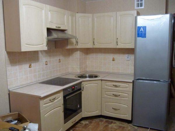 Кухня с пленкой пвх, цвет, белый - Вариант № 3