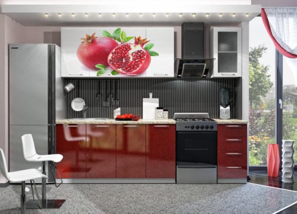 Кухня с фотопечатью, на фасаде, мдф - Вариант № 4