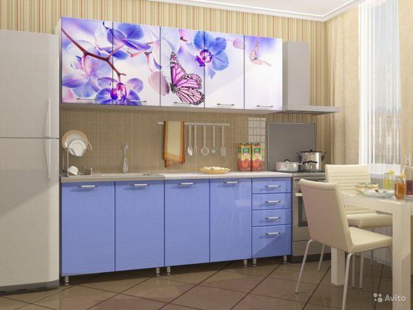Кухня с фотопечатью, на фасаде — Вариант № 9