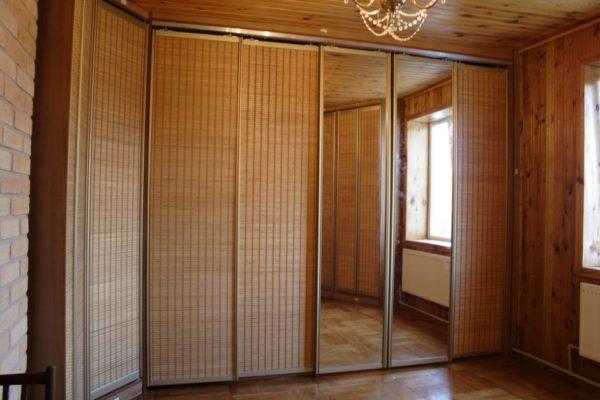 Шкаф-купе с Бамбуковым полотном, угловой - Вариант № 4