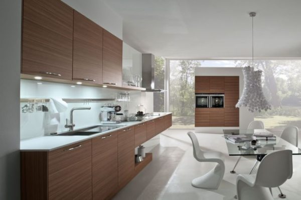Кухня шпон ясеня матовый — Вариант № 16