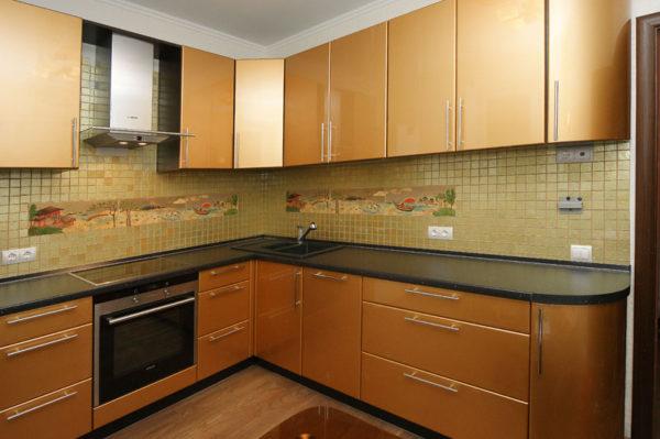 Кухня эмаль золото - Вариант № 13
