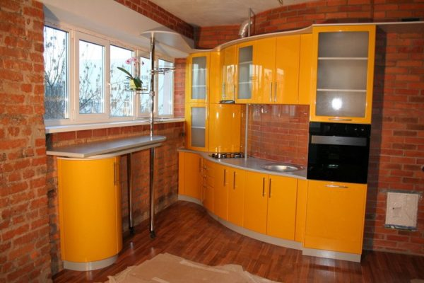 Кухня эмалированная угловая - Вариант № 21