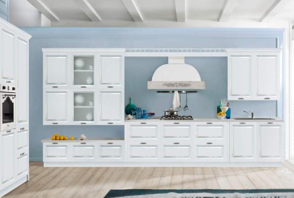 Кухня эмаль, матовая, цвет, белый - Вариант № 29