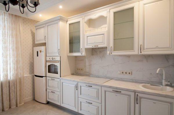 Кухня эмалированная, глянец, цвет, белый - Вариант № 31