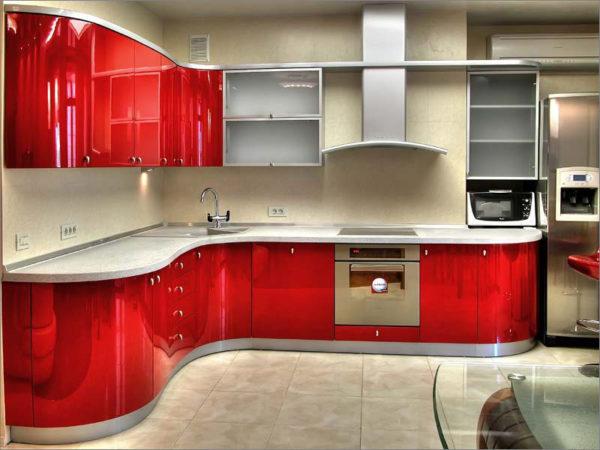 Кухня эмаль, цвет, фукси - Вариант № 7