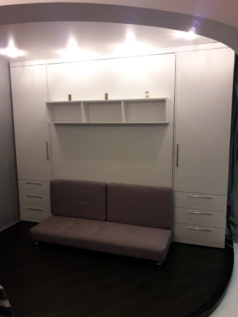 Шкаф кровать из Лдсп Белый премиум
