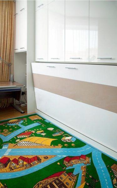 Шкаф кровать из Лдсп Белый глянец