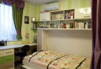 Шкаф кровать 1,5 в детскую
