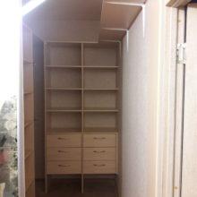 гардеробная комната внутреннее расположение полок