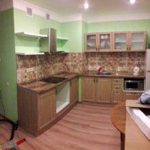 кухня угловая орех