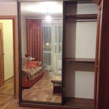 Шкаф-купе в гостиную зеркальный двух дверный